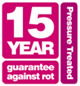 15 year guarantee against rot