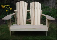 Double Seater Adirondack Bench