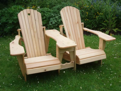 Adirondack chairs and benches for Mobilier de jardin