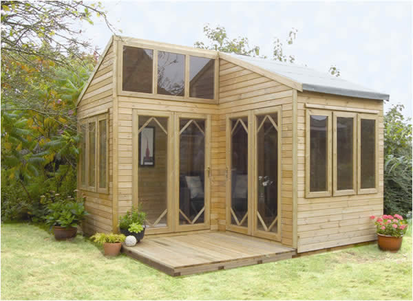The byron summer house or garden room for Garden summer house designs