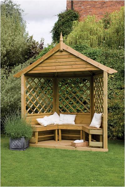 Half Burford Garden Arbour Seat