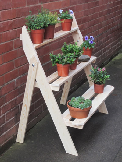 Handmade Ladder Planter