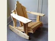 Two Adirondack Rocking Chairs for Children