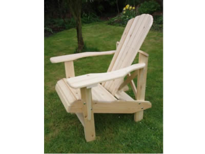 Two Adirondack Higher Seat Chairs