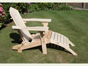 Folding Adirondack Steamer Chair - raised seat
