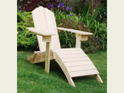 One Folding Adirondack Steamer Chair