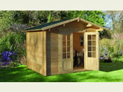 Bradnor Log Cabin  (2.21m * 2.21m) - Fully Assembled