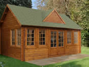 Cheviot Log Cabin (5.5m * 4.0m) - Fully Assembled