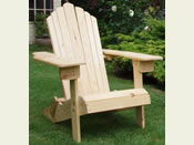 One Folding Adirondack Chair