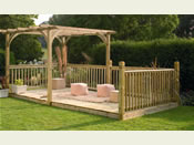 The 'Ultima' Pergola and Patio Deck Kit