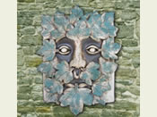 The Green Man Garden Plaque