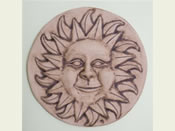 Helios Ceramic Garden Plaque