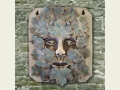 The Larger green Man Garden Plaque