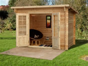 Harwood Log Cabin  (3m * 2m) - Fully Assembled