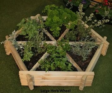 Herb Wheel Planter - 4' (122cm) Wide