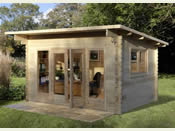 The Melbury Log Cabin - 4.0m * 3.0m - Fully Assembled