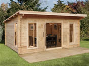 The Mendip Log Cabin - 5.0m * 4.0m - Fully Assembled