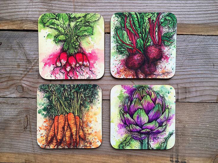 Vegetable Coaster Set