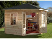 Wenlock Log Cabin  (3.0m * 3.0m) - Fully Assembled