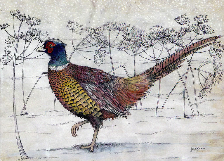 Winter Pheasant Greetings Card