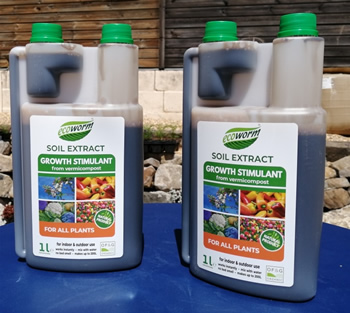 1 Litre of Organic Worm Compost Extract Fertilizer