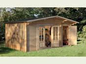 Wrekin Log Cabin (4.8m * 3.5m) - Easy kit form